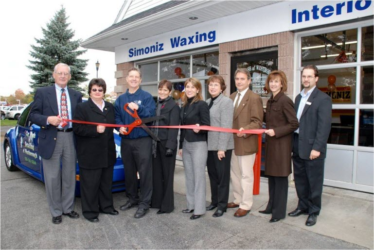 SolarFlair Ribbon Cuttong ceremony with Westborough Car Wash